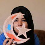 فيديو| طالبة فلسطينية تبتكر لونا جديدا من الفنون