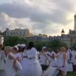 فيديو| عشرات الآلاف من حول العالم يشاركون في العشاء الأبيض بباريس