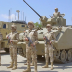 فيديو| الجيش المصري يعلن القضاء على 32 تكفيريا بسيناء