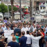 وقفة احتجاجية في رام الله رفضاً للعقوبات المفروضة على غزة