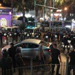 فيديو وصور  الأمن يقمع مظاهرة برام الله تطالب برفع العقوبات عن غزة