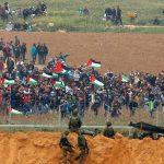 مسيرة العودة بغزة تطالب الهيئات الامميةوالدولية القيام بمسؤولياتها تجاه جرائم الاحتلال