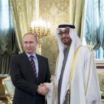 محمد بن زايد يلتقي بوتين في زيارة رسمية لروسيا