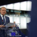 توسك: اتفاق مؤقت بين الاتحاد الأوروبي وبريطانيا حول العلاقات ما بعد بريكست