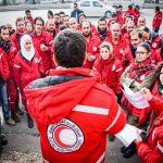 الهلال الأحمر السوري: وصول قافلة مساعدات إلى الجنوب الغربي