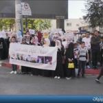 فيديو| وقفة تضامنية مع فلسطينيات أسيرات في سجون الاحتلال بالخليل