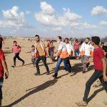صور  إصابة 24 فلسطينيا برصاص الاحتلال وقنابل الغاز على حدود غزة