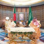 الملك سلمان يعقد جلسة مباحثات رسمية مع رئيسة وزراء بنجلاديش
