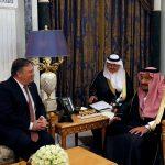 وزير الخارجية الأمريكي يلتقي العاهل السعودي في الرياض
