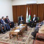 تفاصيل لقاء هنية والوفد الامني المصري في غزة