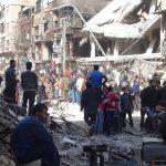 إزالة الأنقاض من شوارع مخيم اليرموك في دمشق