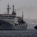 سفينة من البحرية الروسية تتجه إلى بحر آزوف