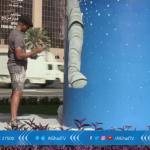 فيديو  «يوم جديد».. الجرافيتي يزين شوارع دبي
