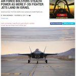إسرائيل تتسلم المزيد من طائرات الشبح (إف 35 إي) الأمريكية
