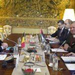 العاهل الأردني يجري مباحثات مع رئيس وزراء بلجيكا