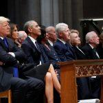 شخصيات بارزة في جنازة الرئيس الأمريكي الأسبق بوش الأب