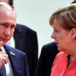 بوتين وميركل يتفقان على عقد مباحثات رباعية للتهدئة بين روسيا وأوكرانيا