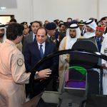 صور| الرئيس السيسي يتفقد جناحي السعودية والإمارات في