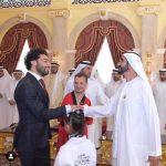 صلاح يتسلم جائزة محمد بن راشد للإبداع الرياضي
