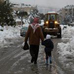 تساقط الثلوج على مناطق في الأردن