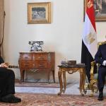 وزير الخارجية الأمريكي يلتقي الرئيس المصري