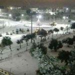 بدء تساقط الثلوج على المرتفعات العالية بالأردن