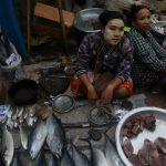 صيد وبيع الأسماك في ماينمار