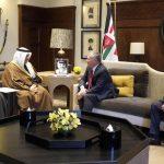 العاهل الأردني يستقبل رئيس مجلس الوزراء الكويتي