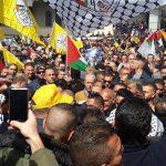 فتح تنظم مسيرة بالخليل تأييدا للرئيس عباس