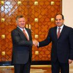 السيسي يستقبل العاهل الأردني لبحث التطورات الإقليمية الراهنة