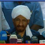 الصادق المهدي يدعو لإعلان دستوري مع المجلس العسكري بالسودان
