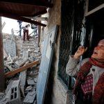 أنقاض منزل شهيد فلسطيني