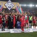 محمد بن زايد يتوج فريق النجم الساحلي التونسي بالبطولة العربية