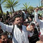 مئات المعلمين المغاربة يحتجون مجددا للمطالبة بعقود عمل دائمة