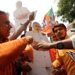 حزب رئيس الوزراء الهندي يحقق فوزا تاريخيا في الانتخابات