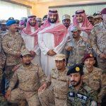 صور  محمد بن سلمان يجري زيارة معايدة للقوات السعودية