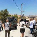 قوات الاحتلال الإسرائيلي تستهدف المصلين في خيمة اعتصام وادي الحمص