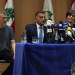 الكندي باكستر المفرج عنه من سوريا يحضر مؤتمرا صحفيا في بيروت