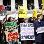 محتجو هونغ كونغ يتحدون الحظر ويواصلون التظاهر