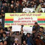 مظاهرات احتجاجية ضد التهديدات التركية للأراضي السورية
