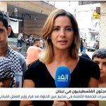 تظاهرة حاشدة في عين الحلوة تنديدا بقرار وزير العمل اللبناني
