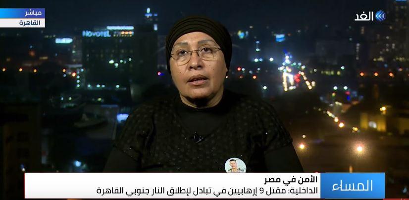 أرملة الشهيد عادل رجائي: الجيش المصري يخوض حرب شرسة ضد الإرهاب – قناة الغد