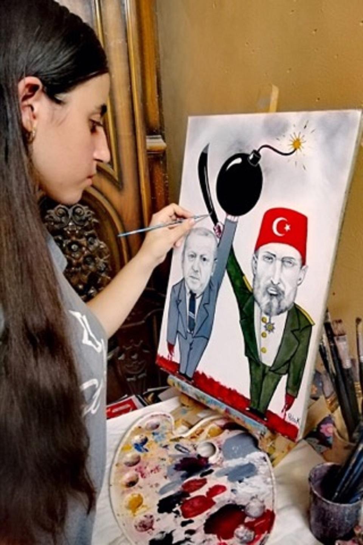 الرسامة الأرمينية ريتا كيفوركيان