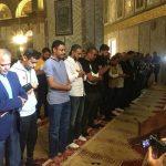بالصور .. بعثة المنتخب السعودي تزور المسجد الأقصى