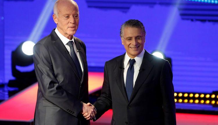 نبيل القروي ومنافسه قيس سعيد على منصب رئاسة الجمهورية في تونس