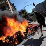 حريق في مقر جامعة في سانتياجو على هامش مسيرة سلمية ضخمة