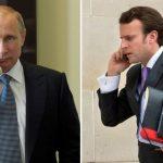 ماكرون يدعو في اتصال هاتفي مع بوتين لتمديد وقف إطلاق النار بسوريا
