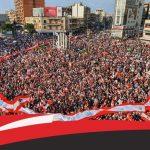 المتظاهرون اللبنانيون يواصلون الحراك تزامنا مع ذكرى الاستقلال الـ76
