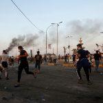 الأمن العراقي يحاول فض اعتصام قرب جسر السنك في بغداد