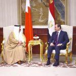 السيسي يستقبل ملك البحرين لاستعراض آخر تطورات الأوضاع الإقليمية